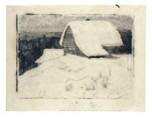 Apsnigta trobelė (Žiema), 1905