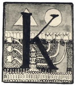 Inicialas K, 1908