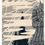 Kompozicija 1907-8 popierius tusas