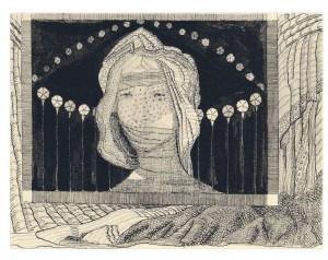 Kompozicija (Moteris su vualiu) 1907-1908
