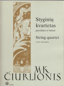 M.K.Čiurlionis. Tema ir variacijos h-moll styginių kvartetui